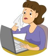 Girl Writer Crying